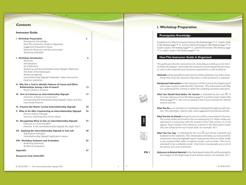 7mp tools interrelationship digraph instructor guide goal qpc rh goalqpc com instruction guide format Assistant Instructor Guide and Template